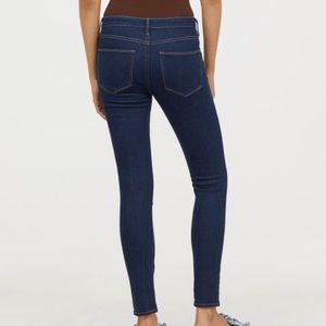 New dark color H&M skinny ankle jeans denim 28